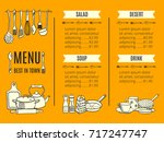 vector menu template of the... | Shutterstock .eps vector #717247747
