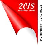 2018 new year coming soon... | Shutterstock .eps vector #717248221