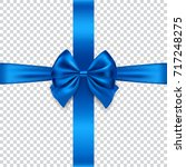 silk bow and ribbon isolated on ... | Shutterstock .eps vector #717248275
