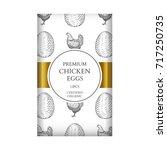 chicken eggs packaging design...   Shutterstock .eps vector #717250735