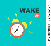 alarm clock. wake up | Shutterstock .eps vector #717251437