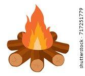 campfire vector icon... | Shutterstock .eps vector #717251779