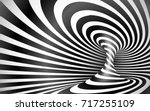 black and white twisted lines... | Shutterstock .eps vector #717255109