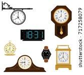 vector illustration set ... | Shutterstock .eps vector #717258079