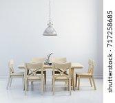 3d render of clean interior...   Shutterstock . vector #717258685