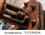 an old rusty gas control valve... | Shutterstock . vector #717259339