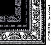 skull bandanna | Shutterstock .eps vector #717260125