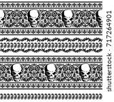 skull illustration pattern   Shutterstock .eps vector #717264901