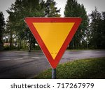 Small photo of To give way traffic sign.