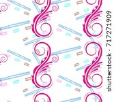 endless abstract pattern.... | Shutterstock .eps vector #717271909