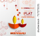 diwali festival offer design... | Shutterstock .eps vector #717273151