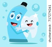 dental health campaign for kid. ... | Shutterstock .eps vector #717274261