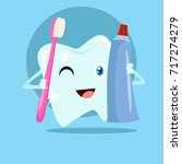 dental health campaign for kid.  | Shutterstock .eps vector #717274279