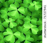 Seamless green clover background for St.Patrick day - stock photo