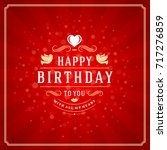 happy birthday typographic for... | Shutterstock .eps vector #717276859