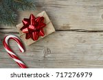 new year's gift in a homemade... | Shutterstock . vector #717276979