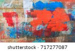 art on the wall    colorful | Shutterstock . vector #717277087
