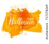 halloween grunge background... | Shutterstock .eps vector #717278269