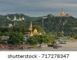 Golden Pagoda In Sagaing Hill ...