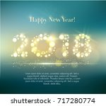 vector 2018 happy new year... | Shutterstock .eps vector #717280774