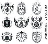 heraldic coat of arms... | Shutterstock .eps vector #717281455