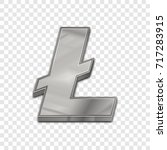 silver litecoin symbol isolated ... | Shutterstock .eps vector #717283915
