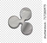 silver ripple coin symbol...   Shutterstock .eps vector #717283975