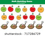 math educational game for... | Shutterstock .eps vector #717286729