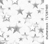 seamless pattern with stars... | Shutterstock .eps vector #717287485