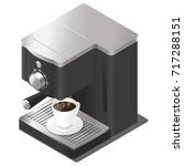 vector isometric coffee machine | Shutterstock .eps vector #717288151