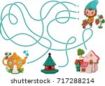 can you help the gnome for find ... | Shutterstock .eps vector #717288214