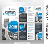 business brochure template in... | Shutterstock .eps vector #717288931