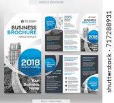business brochure template in... | Shutterstock .eps vector #717288931