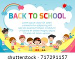 education object on back to... | Shutterstock .eps vector #717291157