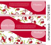 vector square label  pitaya jam ... | Shutterstock .eps vector #717291385