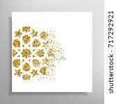 celebration card. vector... | Shutterstock .eps vector #717292921
