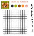 color by number  education game ... | Shutterstock .eps vector #717295675