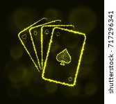 game cards icon. four playing... | Shutterstock . vector #717296341