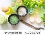 thai spa treatments aroma... | Shutterstock . vector #717296725