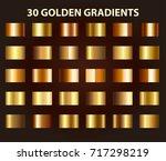 30 golden textures. light...   Shutterstock .eps vector #717298219