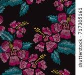 elegant seamless pattern with... | Shutterstock .eps vector #717305161