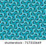 tileable recurring sinuous... | Shutterstock .eps vector #717310669