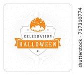 halloween celebration vector... | Shutterstock .eps vector #717310774