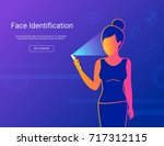 face identification of young... | Shutterstock .eps vector #717312115
