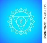 fifth vishuddha throat chakra... | Shutterstock . vector #717313744
