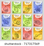 vector hand drawn superfood... | Shutterstock .eps vector #717317569