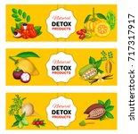 vector illustration superfood... | Shutterstock .eps vector #717317917