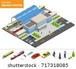 vector isometric infographic... | Shutterstock .eps vector #717318085