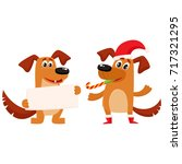 funny dog characters  one in... | Shutterstock .eps vector #717321295