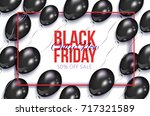 black friday sale banner  flyer ... | Shutterstock .eps vector #717321589